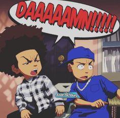 the boondocks/friday mashup Dope Cartoon Art, Dope Cartoons, Cartoon Kunst, Arte Hip Hop, Hip Hop Art, Cartoon Wallpaper, Tupac Wallpaper, Boondocks Drawings, The Boondocks Cartoon