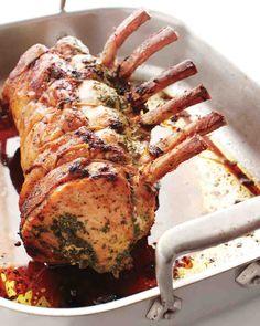 Herb-Stuffed Pork Roast with Mustard Gravy