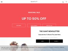 #GANT - Free Delivery On All Orders Over £50.