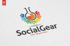 Social Gear Logo Templates minimalist and modern logo. Simple work and adjusted to suit your needs. CMYK Fully editable EPS by ft.studio