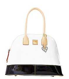 Dooney and Bourke Patent Domed Satchel
