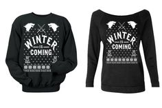 game of thrones christmas sweater. di CreateMoreSleepLess su Etsy