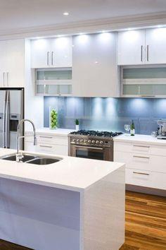 Kitchen Adorable Lighting Blue Apron Wooden Floor LED White Cabinet Design.jpg Wondrous and Dining