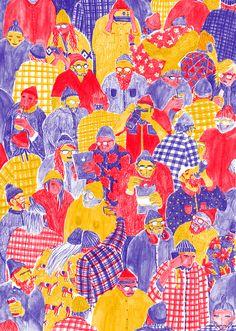 Mouni Feddag #patterns #people #illustration
