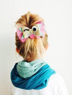 Emoji Wink Hair Bow  Emoji Wink hair clip Emoji by OrangeYouPeachy