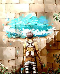 Attack on Titan ~~ The forbidden books promised a sea as wide as your eye could see. Eren wanted to give Armin at least a little glimpse of what it might look like... before it was too late.
