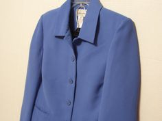 Drapers and Damons Petite Pant Suit Jacket And Slacks Blue Wedding Church Office to Dinner Size 8P cachecastle, $34.95