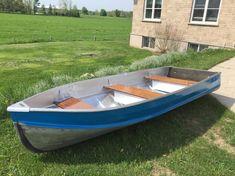 One man's junk. - Page 3 Aluminum Boat Paint, Aluminum Fishing Boats, John Boats, Outboard Boat Motors, Boat Restoration, Boat Building, Building Ideas, Boat Projects, Bowrider