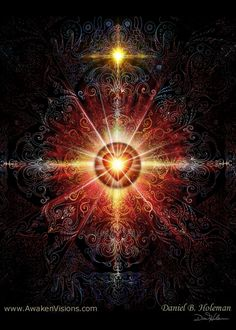 Heart Mandala Red by Daniel B. Holeman