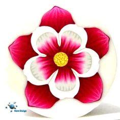 Dark pink columbine flower cane | par Marcia - Mars design