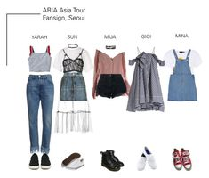ARIA (딜라드) Asia Tour Fansign: Seoul by ariaofficial on Polyvore featuring moda, MSGM, Jacquemus, Love Moschino, Topshop, Nobody Denim, Converse, Dr. Martens, Keds and Steve Madden