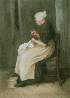 File:Van Gogh 1881-12, Etten - Scheveningen Woman Sewing F 869 JH 83.jpg