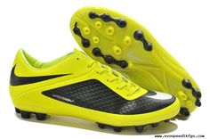 New Black Yellow Nike Hypervenom Phelon AG Boots Cleats