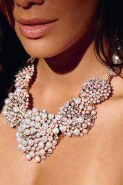Precious pearl statement necklace