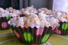 This gave me an idea...to buy little cups for small kids to hold snacks in....so much easier than a plate! Honey butter popcorn = easy toddler birthday party recipe