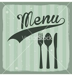 Retro menu by Giuseppe_R on VectorStock®