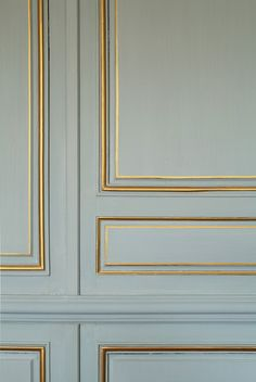 gold paint to accent moldings #decor