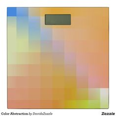 Color Abstraction Digital Scale  Available on more products, type in the name of this design in the search bar on my Zazzle products page!  #abstract #art #geometric #color #blue #red #black #yellow #white #green #square #line #gradient #cool #hip #chic #contemporary #nice #buy #sale #zazzle #bed #bath #bathroom #bedroom #home #decor #accent #lifestyle #style #chic #digital #scale #weight #weight