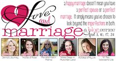 A must read for the month of April! 6 bloggers share all about their marriages. Trials, triumphs, and more...check it out!