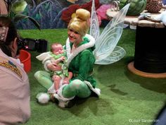 Tinkerbell meets her 2-Month Old Replacement.... Baby Lamoreau is definitely getting his/her pics with characters, love this!!!