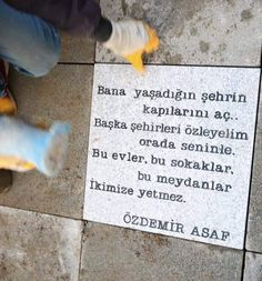 Başka şehirleri özleyeyim ora… Open the doors of the city you live in. Let me miss other cities there with you. These houses, these streets, these squares are not enough for us. More Than Words, I Missed, Book Quotes, Karma, Literature, Poems, Cool Designs, Letters, Let It Be