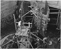 Tennessee Valley Authority Wilson Dam in Alabama: construction at the generating unit 1942