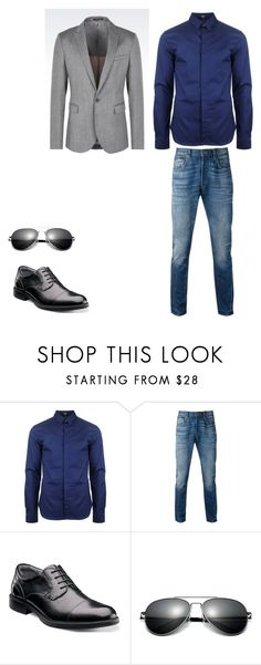 """""""Untitled #90"""" by emma-hemmings-782 on Polyvore featuring Versus, Levi's, Florsheim, Emporio Armani, men's fashion and menswear"""