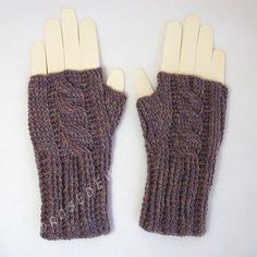 Looking for your next project? You're going to love Ribbed Cable Knit Look Fingerless Mitts by designer R0SEDEW.