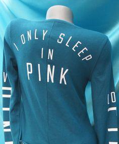 Large~ Victorias Secret Pink Thermal Long Jane Onesie Pajama PJ'S  Teal NWT #VictoriasSecret #PajamaSets