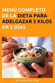 Adelgazar 5 kilos en 5 días - Menú completo
