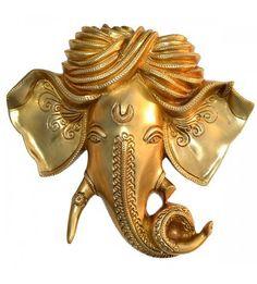 Ganesha Wall Hanging In Brass1