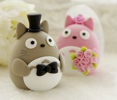 Si Domo-kun y Kitty Cat no hubieran estado en mi pastel de boda...¡¡Hubiera elegido estas monadas!! :)