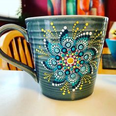 Cute mandala to paint on a cup or plate