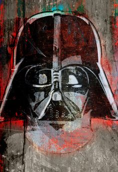 Darth Vader from Star Wars portrait  Poster by TheDecoriumStudio, $100.00