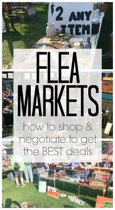 I can't wait to try out these tricks on how to shop at flea markets this summer! I love the tips on how to negotiate. This lady has bought and sold at flea markets, so she knows what she's talking about!