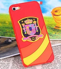 WORLD CUP CASES FOR APPLE IPHONE 5 / 5S - SPAIN