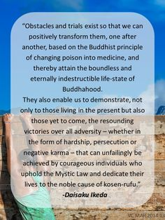 #daisakuikeda #obstacles #trials #faith #mysticlaw #actualproof