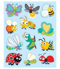 """""""Buggy"""" for Bugs Shape Stickers 