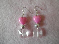 Earrings 061 Square Hearts by AllMyEarrings on Etsy