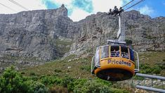 View of the Table Mountains Cable Car in Cape Town (via thecoconutrace.com)