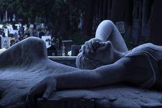 Cemetery sculpture in Genoa, Italy