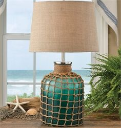 Sea Green Lamp with Shade by Park Designs 29 High Textured Beach Style Seaside Decor, Beach House Decor, Coastal Decor, Coastal Style, Coastal Cottage, Coastal Living, Coastal Homes, Do It Yourself Inspiration, Lamp Inspiration