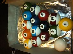 Pool ball cupcakes :) Made these for a lady's husbands birthday who loves to play pool!