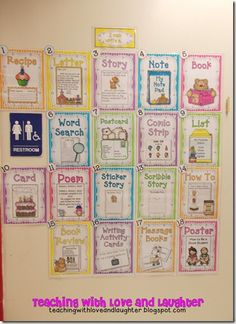Writing Choices for Daily 5. Put all the options in a binder and they can look through and then grab a template.