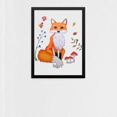 This Fox print is so beautiful! This woodland print fits in every room of your house! This fox brightens up every space. His cute little face looks at you and you know you want to give him a home.why not adopt this cute little rascal? Www.lumisadesign.nl