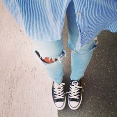 jeans and converse.
