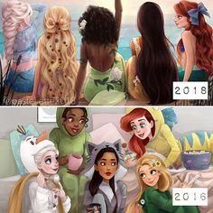 From Patstel.ette Thank you for the incredible feedback on my newest drawing!❤️ It was inspired by a drawing I made two years ago, so I couldn't resist… Disney Princess Drawings, Princess Rapunzel, Princess Zelda, Disney Pixar, Walt Disney, Disney Hairstyles, Princesas Disney, Jack Frost, Cartoon Drawings