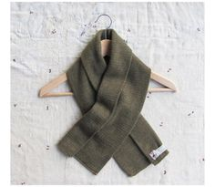 vintage 1950s Dutch Army olive green wool scarf by MouseTrapVintage, $32.00