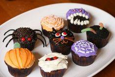 Halloween Cupcakes Spider, Web, Pumpkin, Black Cat