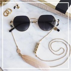 This item is unavailable Fashion Accessories, Fashion Jewelry, Fashion Necklace, Bohemian Jewelry, Ethnic Jewelry, Creations, Jewels, Chain, Round Sunglasses